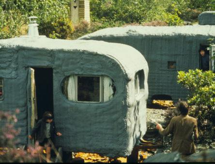 caravans sprayed with insulation