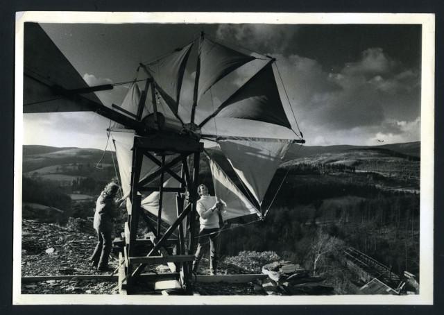 Creatan wind turbine - generating electricity in the 1970s