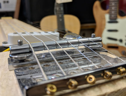 partially built lapsteel guitar