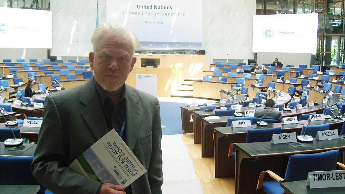 Paul Allen at the UN climate talks in Bonn, 2015