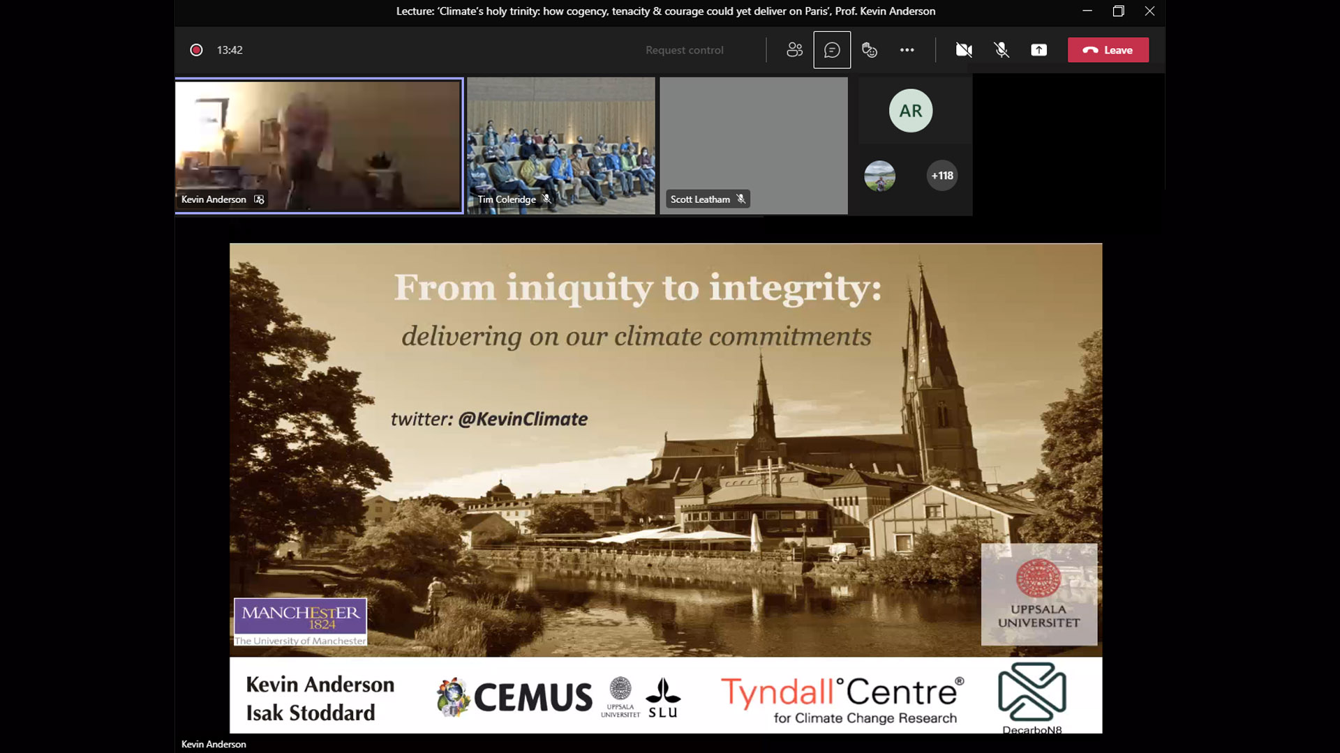 Kevin Anderson online lecture