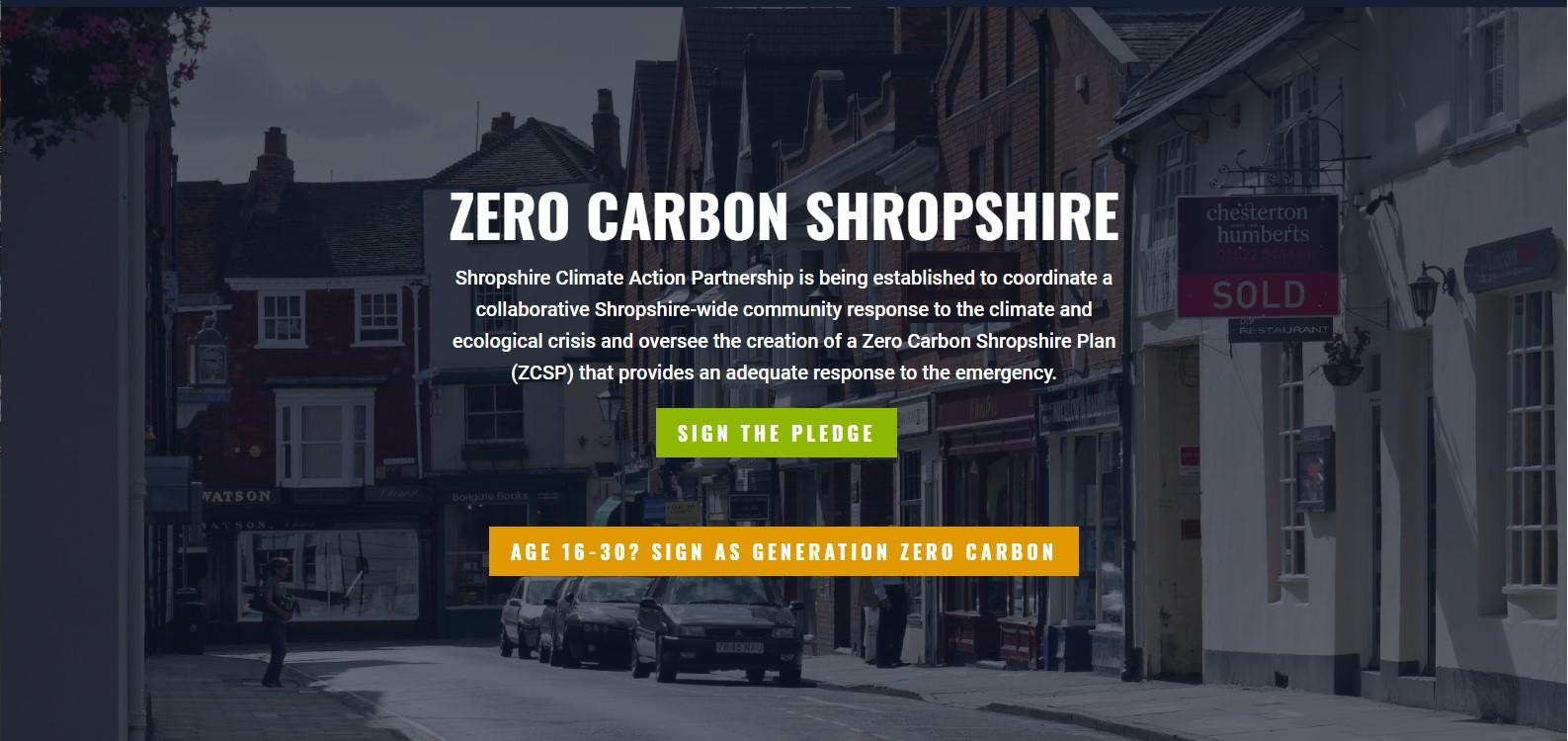 Zero Carbon Shropshire screenshot